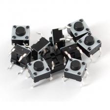 Paquete 10 Switches Push Button de 4 pines