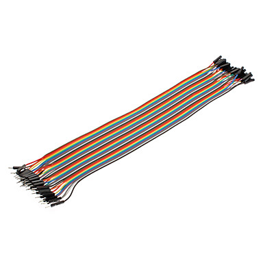 Juego de 40 Cables DuPont para conexiones Macho a Hembra