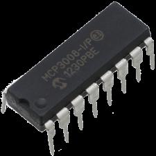 Convertidor Analogico 10 Bits 8 Canales MCP3008